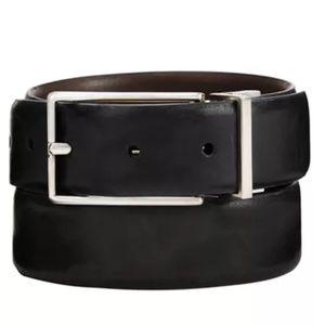 487442b05f3a Tasso Elba Accessories   Mens Brown Feather Edge Dress Belt   Poshmark